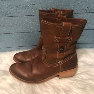 Frye Brown Leather pull on Ankle Booties Size 6